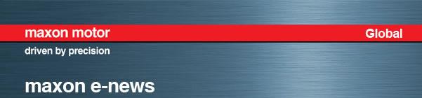 Motion Control -Maxon Newsletter-Banner
